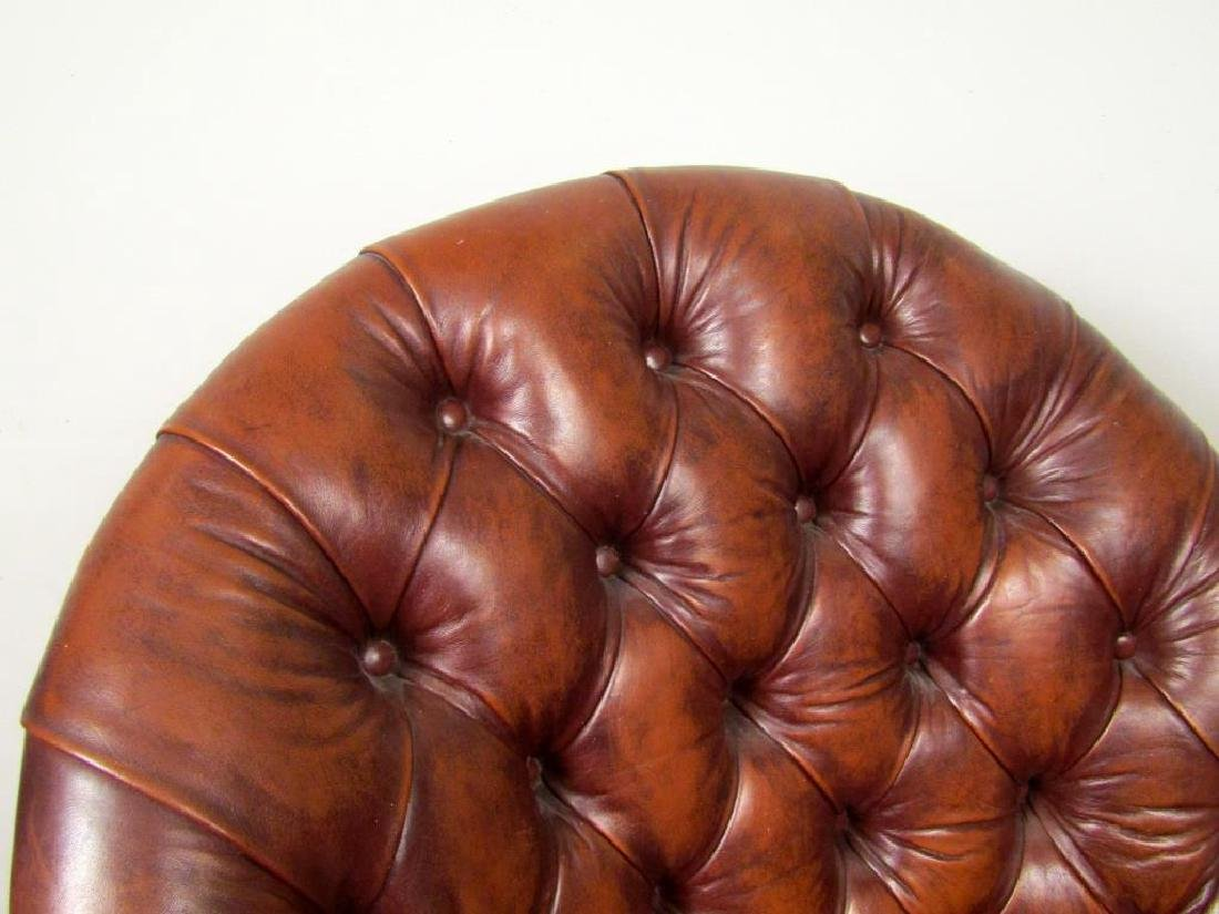 Tufted Leather Library Chair - 3
