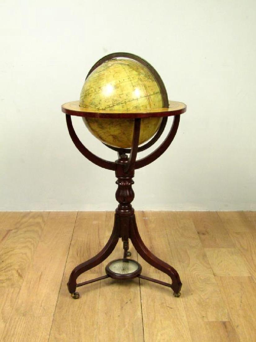 Antique Bardin's Terrestrial Globe on Stand