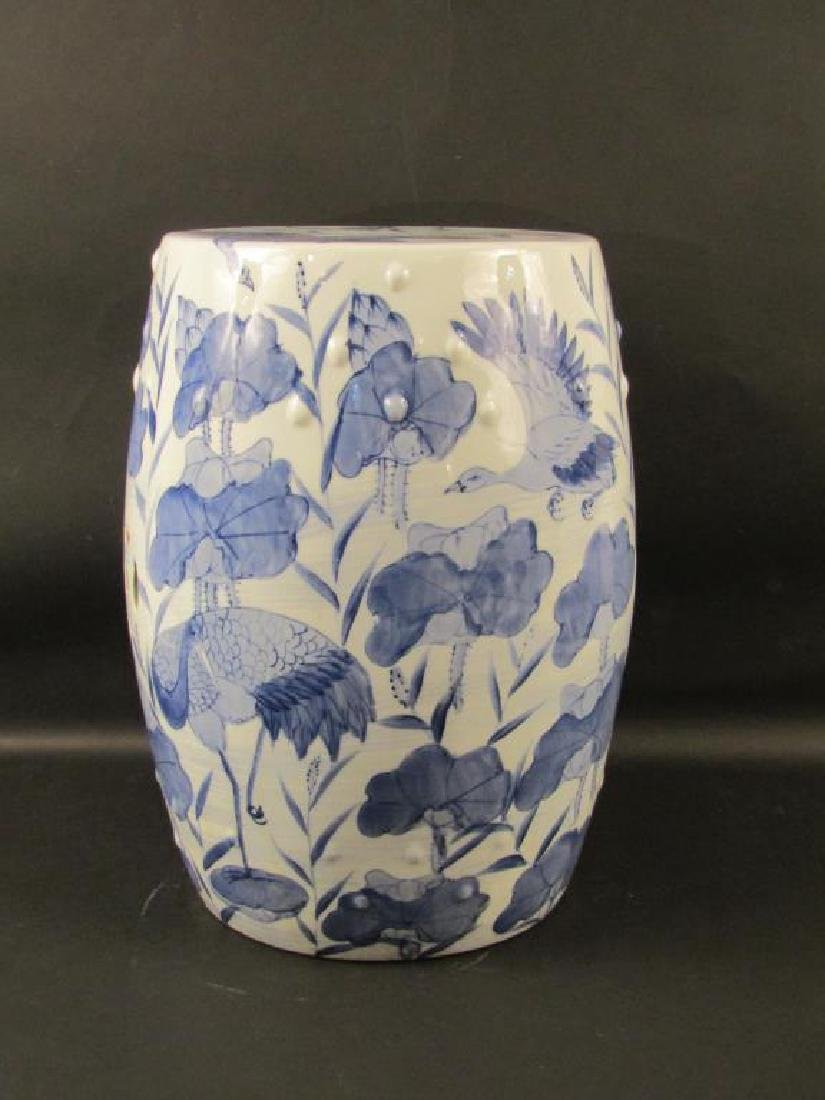 Chinese Blue and White Garden Seat - 2