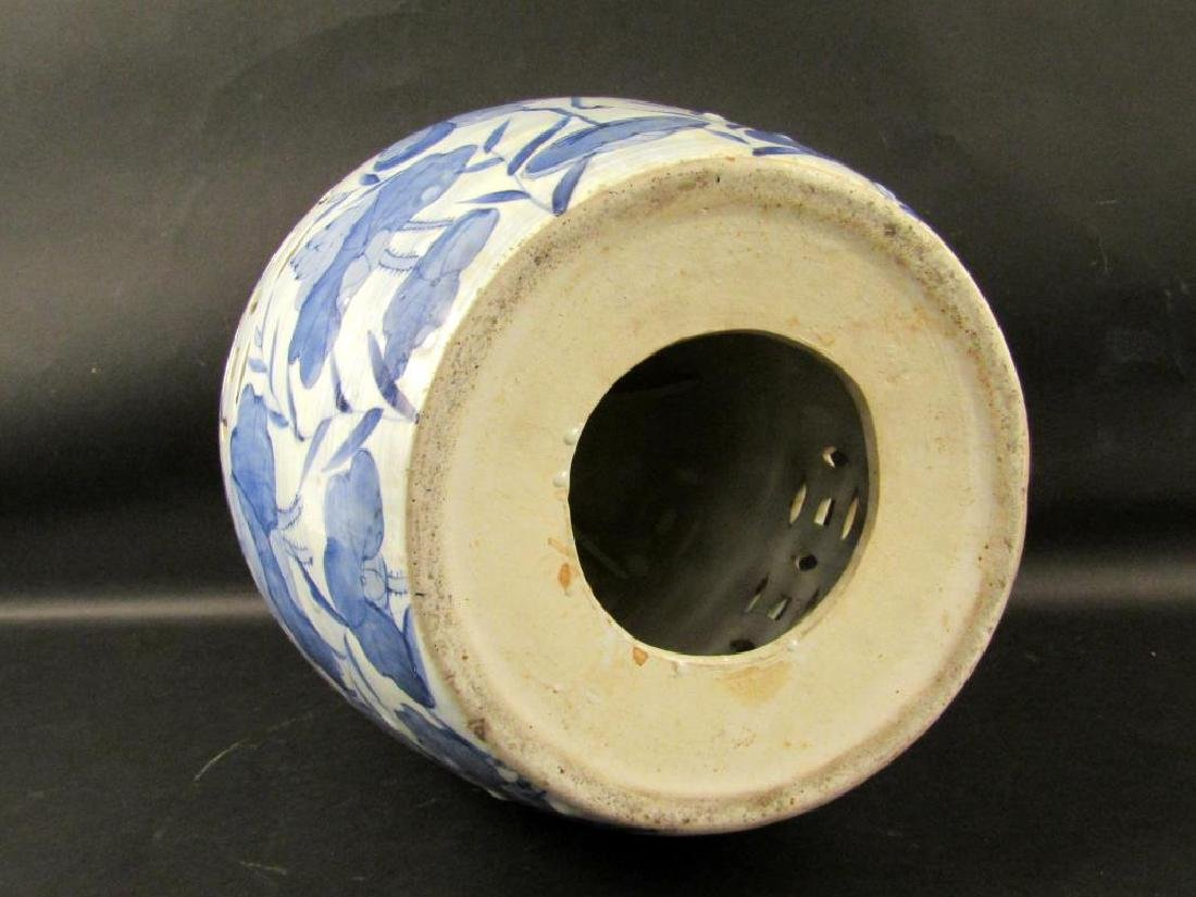 Chinese Blue and White Garden Seat - 6