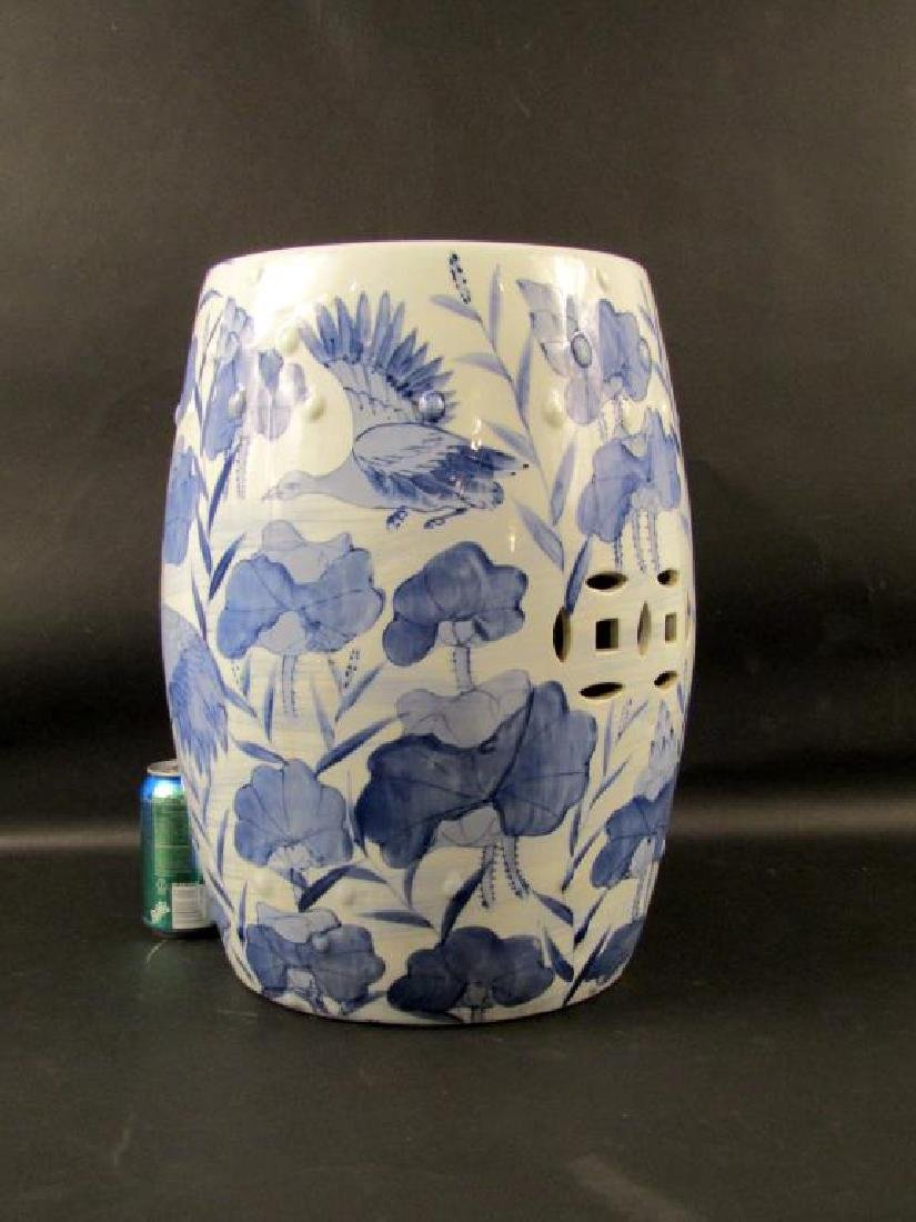 Chinese Blue and White Garden Seat - 7