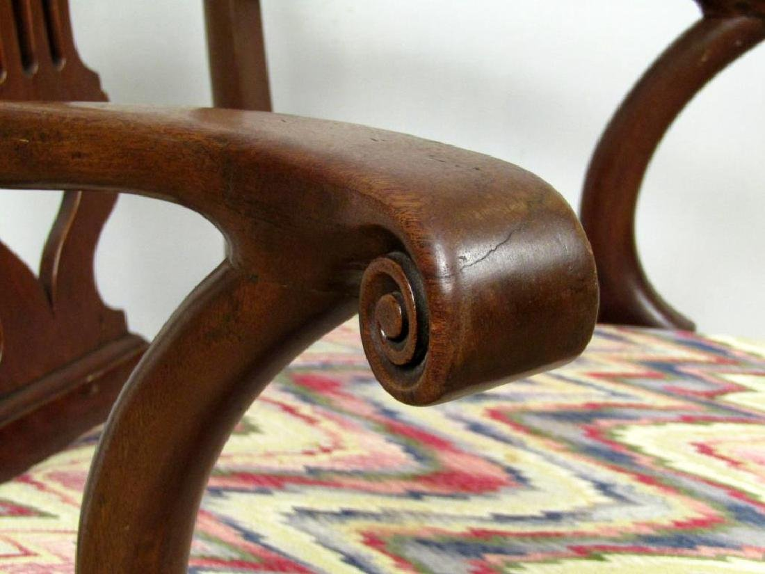 Antique English Nursing Arm Chair - 3