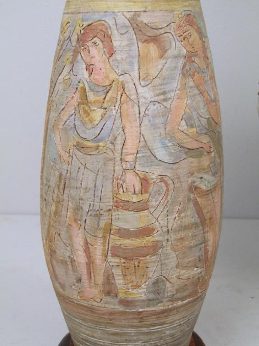 3 Mid Century Ceramic Lamps - 3