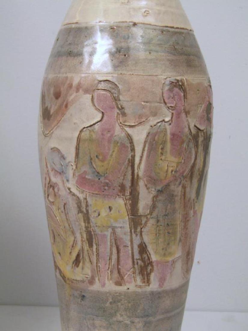 3 Mid Century Ceramic Lamps - 5