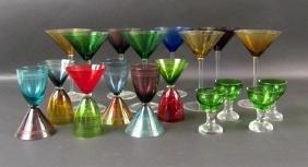 Assorted Color Glass Stemware