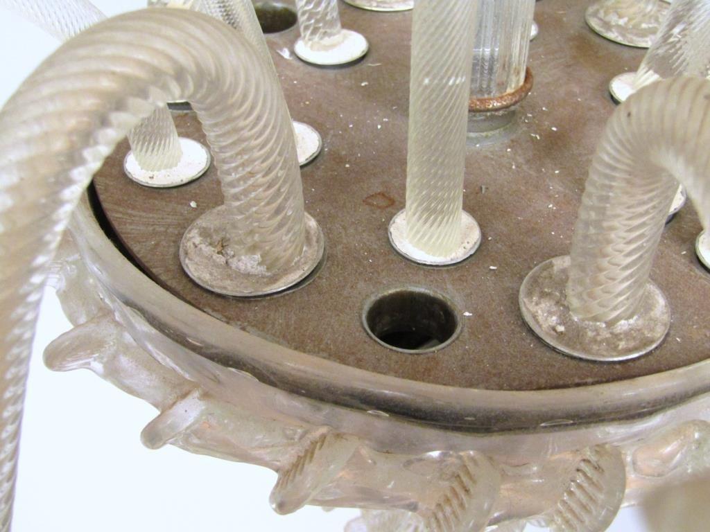 Italian 6 Light Venetian Style Glass Chandelier - 6