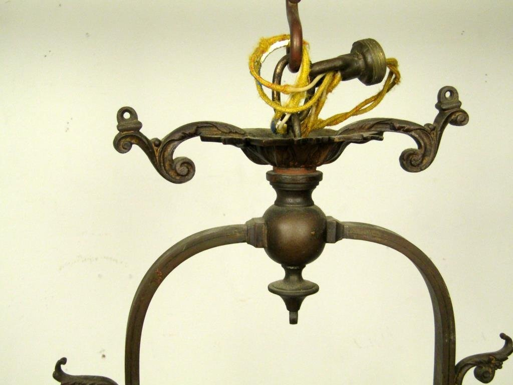 English Style 5 Light Mixed Metal Chandelier - 2