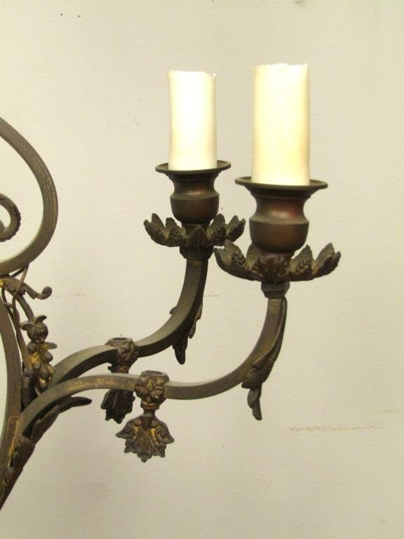 English Style 5 Light Mixed Metal Chandelier - 3