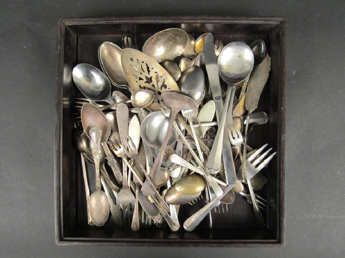 Assorted Silverplate & Metal Serving and Flatware