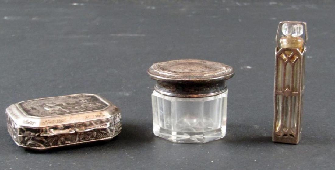 3 Silver Vanity Articles