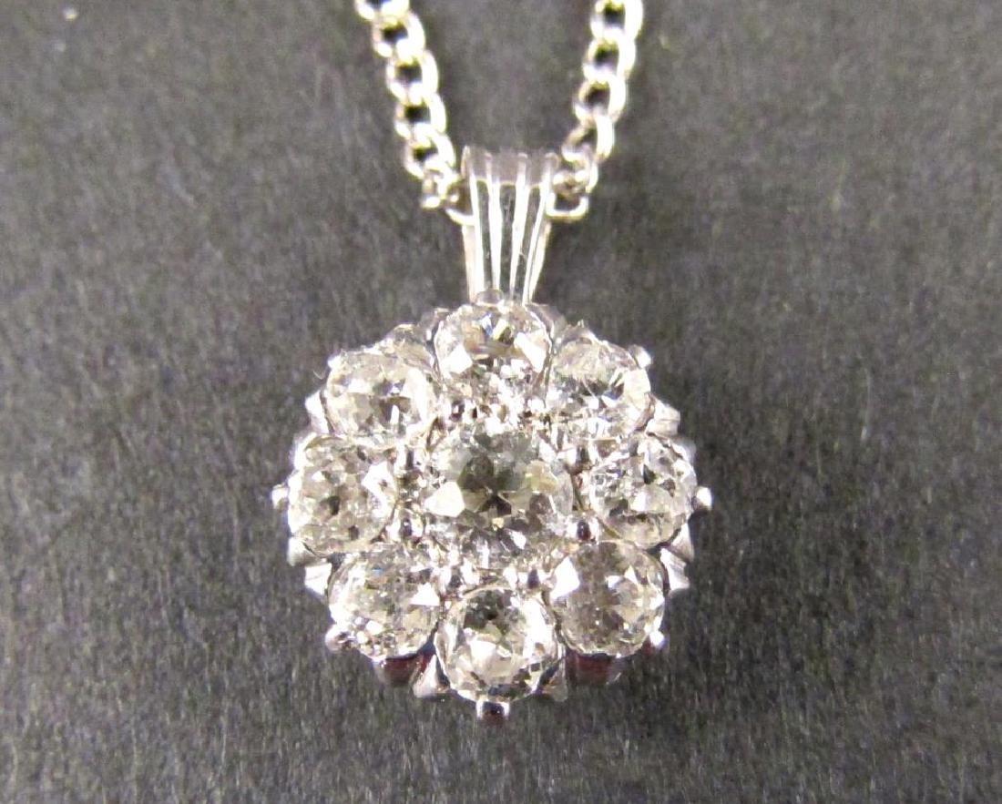 14K Gold and Diamond Pendant