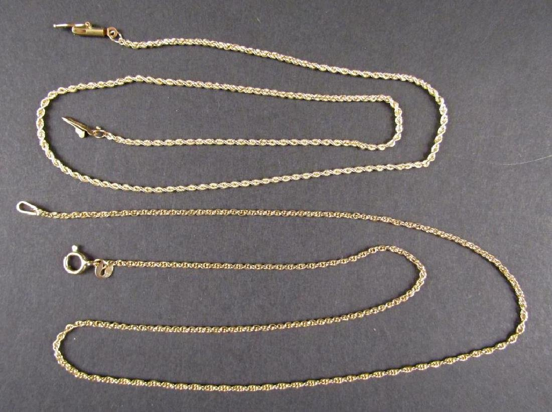 2 14K Yellow Gold Chains