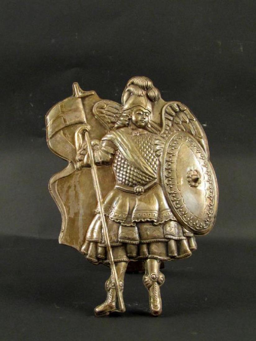 Metal Figural Easel Plaque