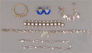 Assorted Silver and Other Metal Jewelry