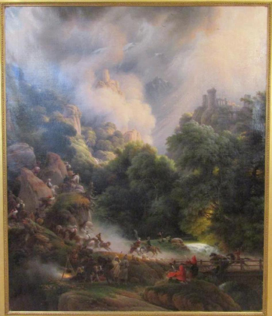 Unsigned - Large Antique Oil on Canvas