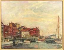 Arbit Blatas (Lithuanian,1908-1999) -Oil on Canvas