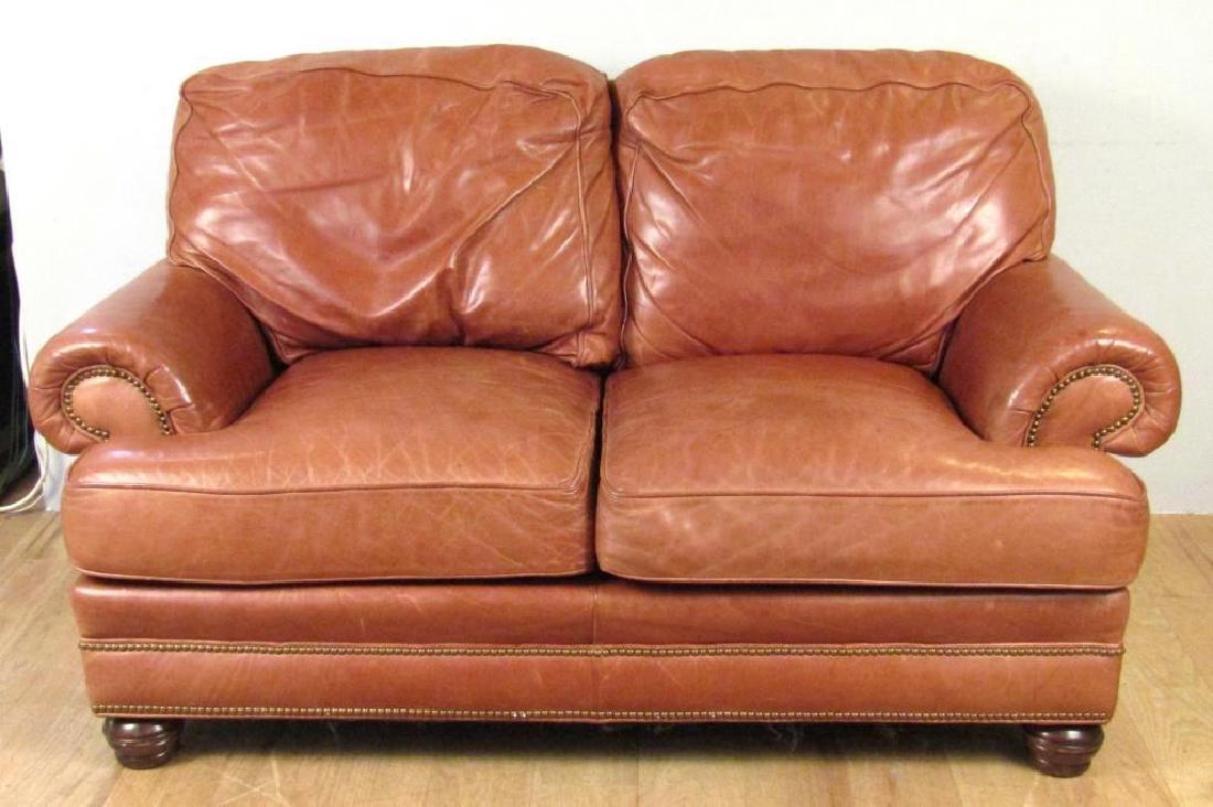 Whittemore Sherrill Leather Loveseat
