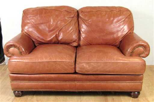 Whittemore Sherrill Leather Loveseat
