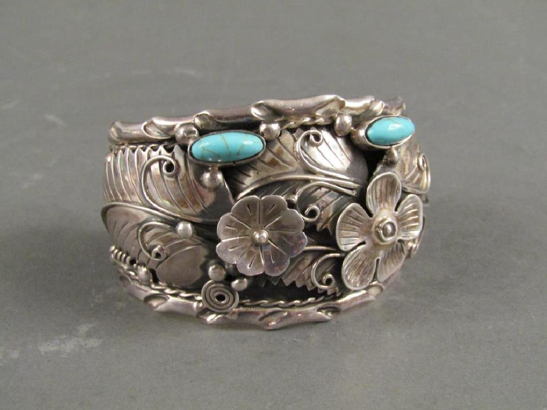 Large Mexican Sterling Silver Cuff