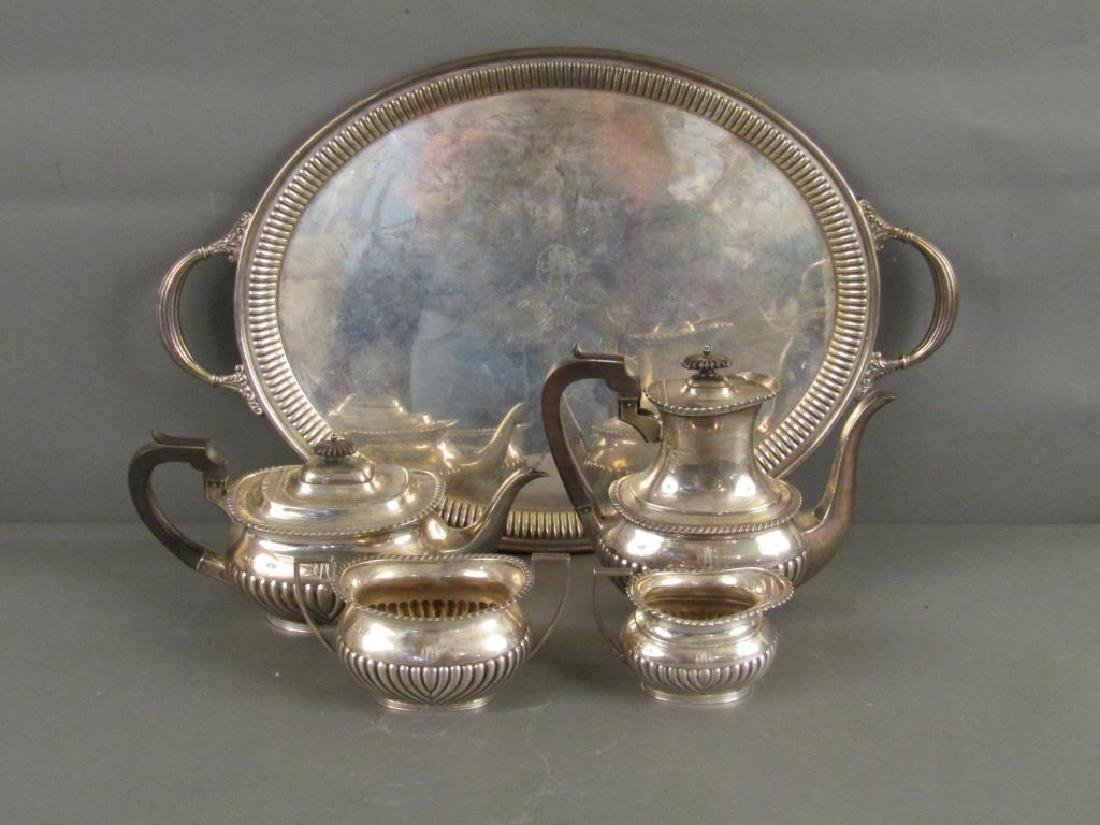 5 Piece English Silver Tea Set