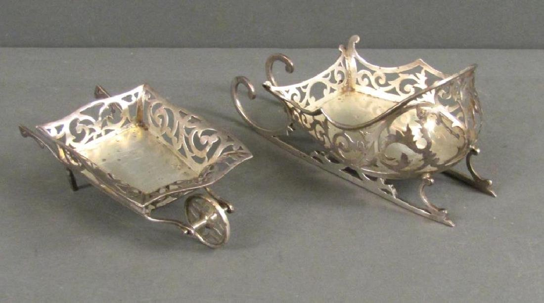 2 English Silver Salts As Shaped Items