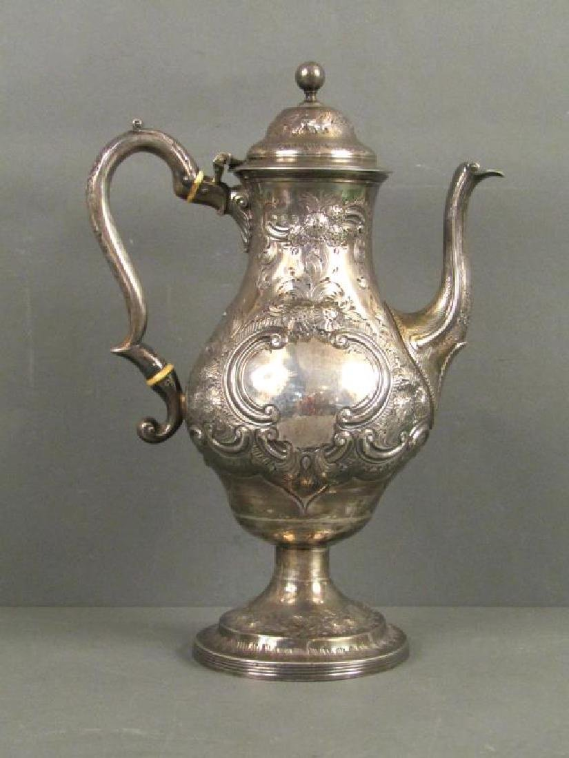 Antique English Silver Tea Pot