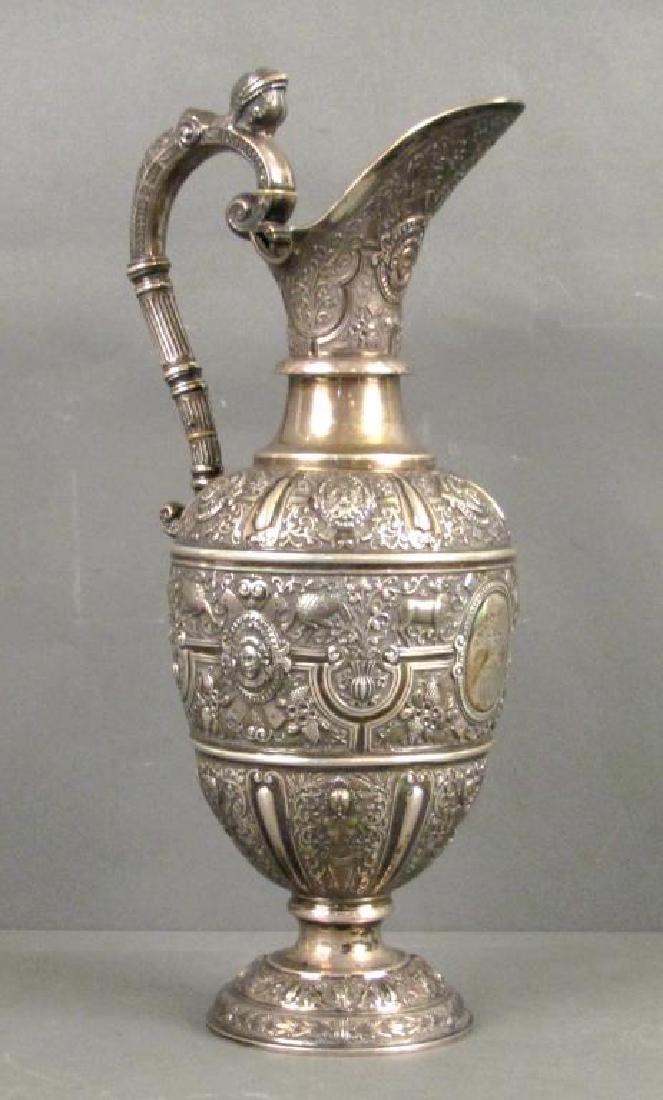 Antique English (Glasgow) Silver Ewer