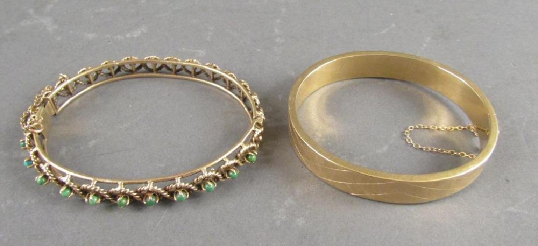 2 Yellow Gold Bracelets