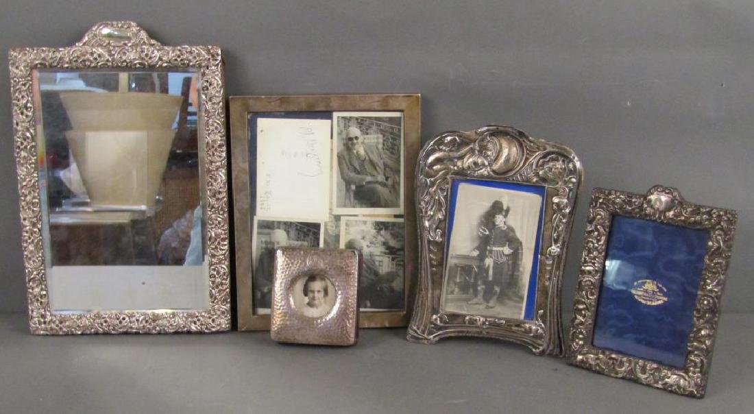 5 English Silver and Sterling Picture Frames