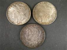 3 - US Morgan 1878 Silver Dollars