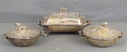 3 Silver Plated Serving Articles