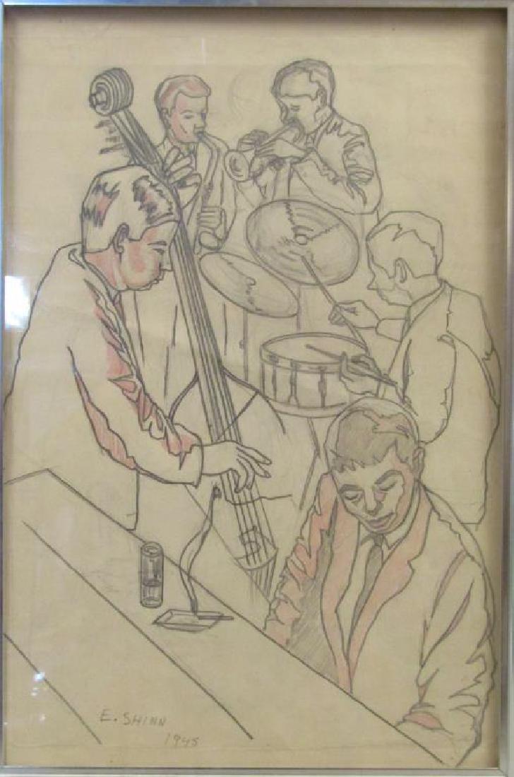 Signed Everett Shinn - Drawing on Paper
