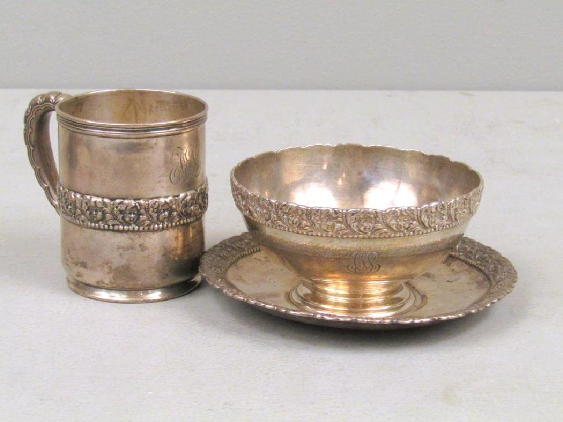Set of 3 Tiffany & Co. Sterling Baby Articles