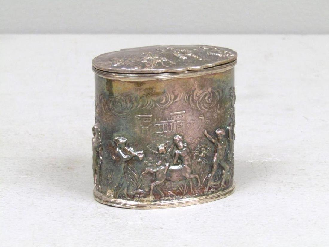 Small English Silver Box