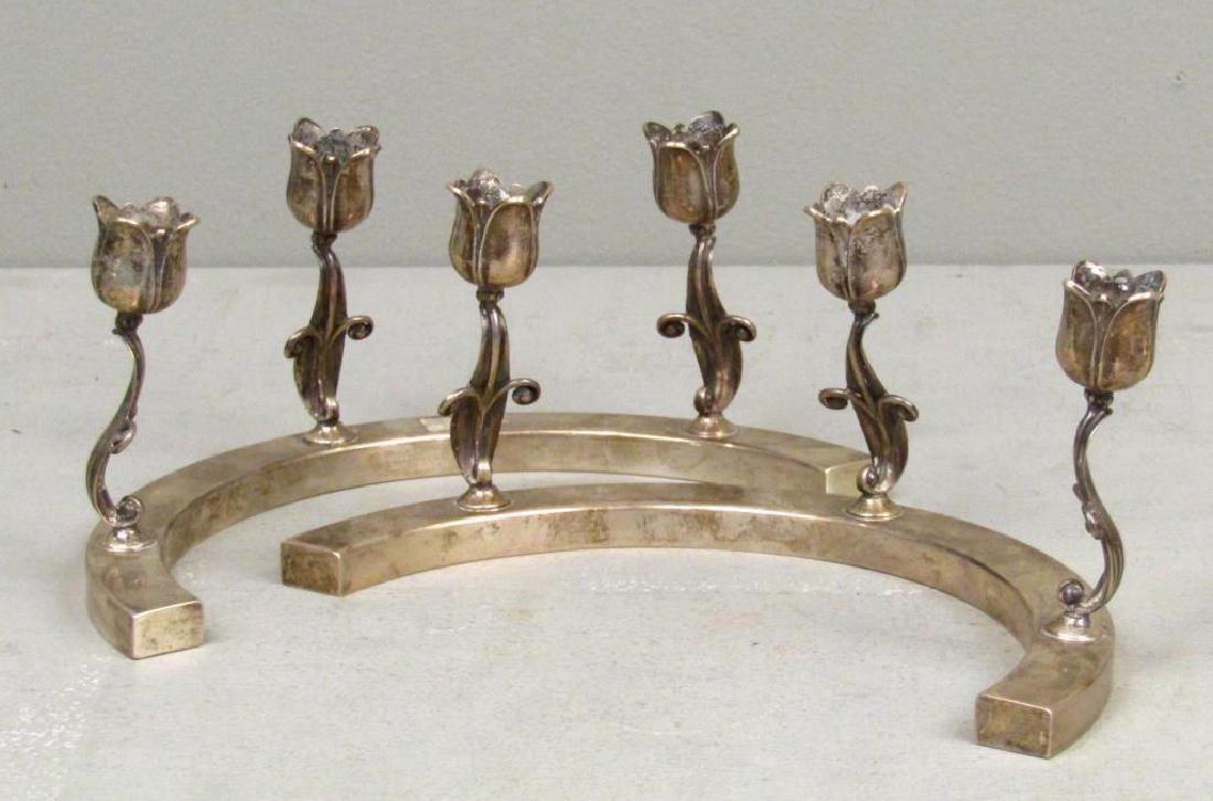Mid Century Sterling Silver 2 Part Centerpiece - 3