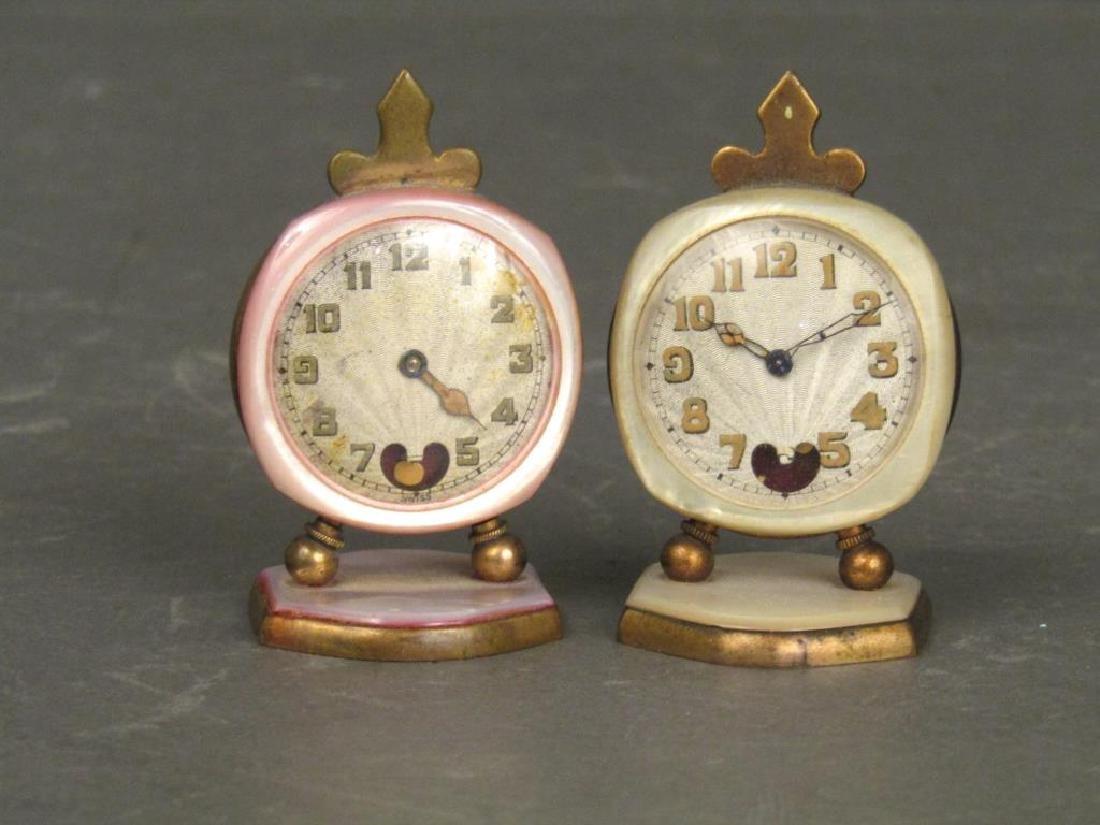 2 Brevet / Metal Dore Clocks