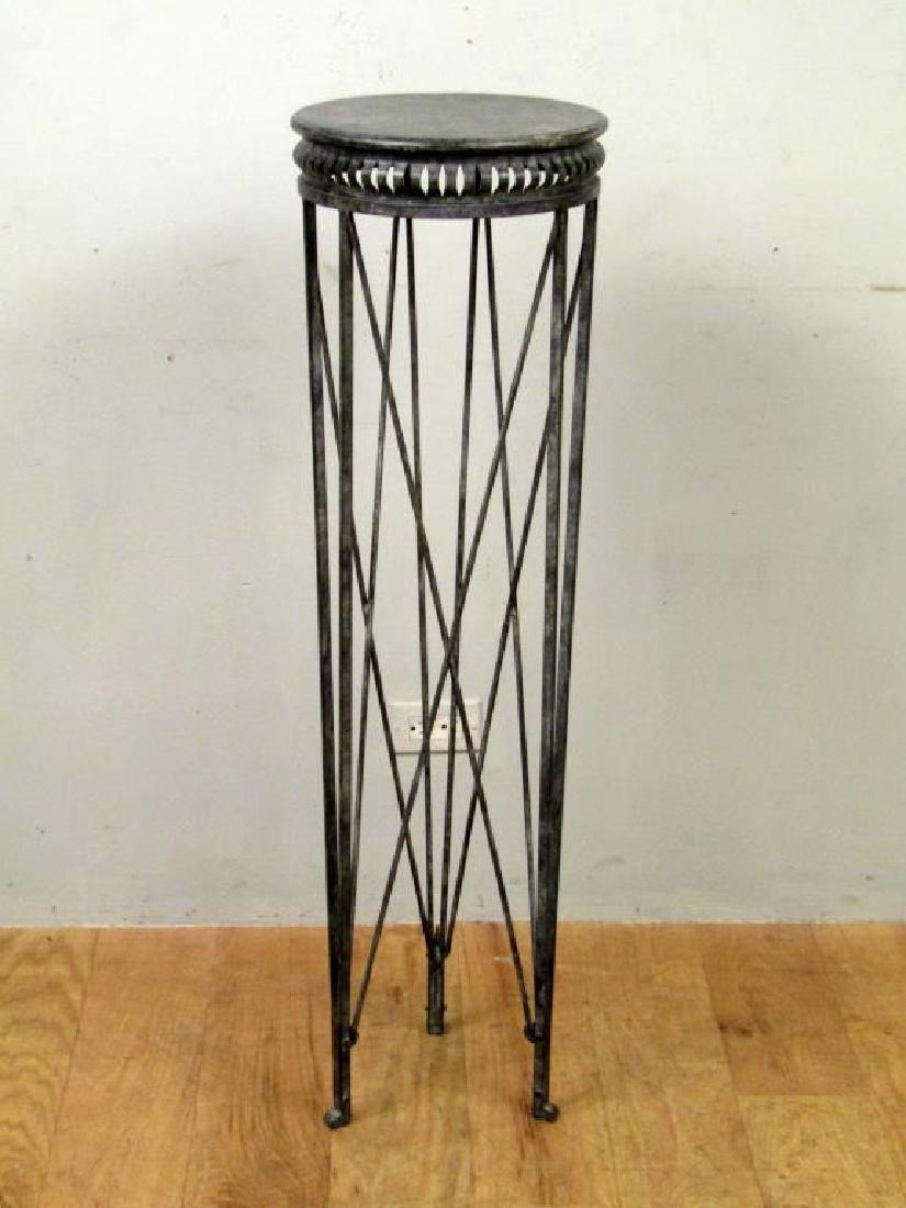 Regency Style Metal Pedestal