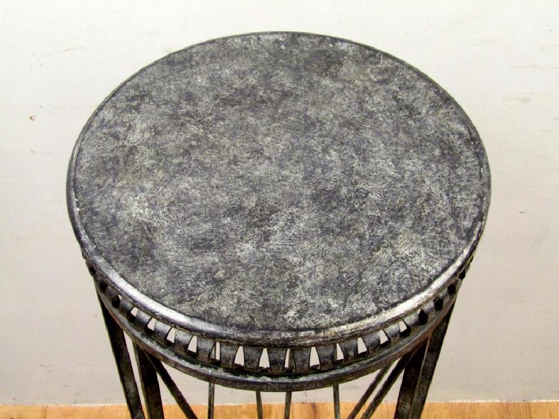 Regency Style Metal Pedestal - 2
