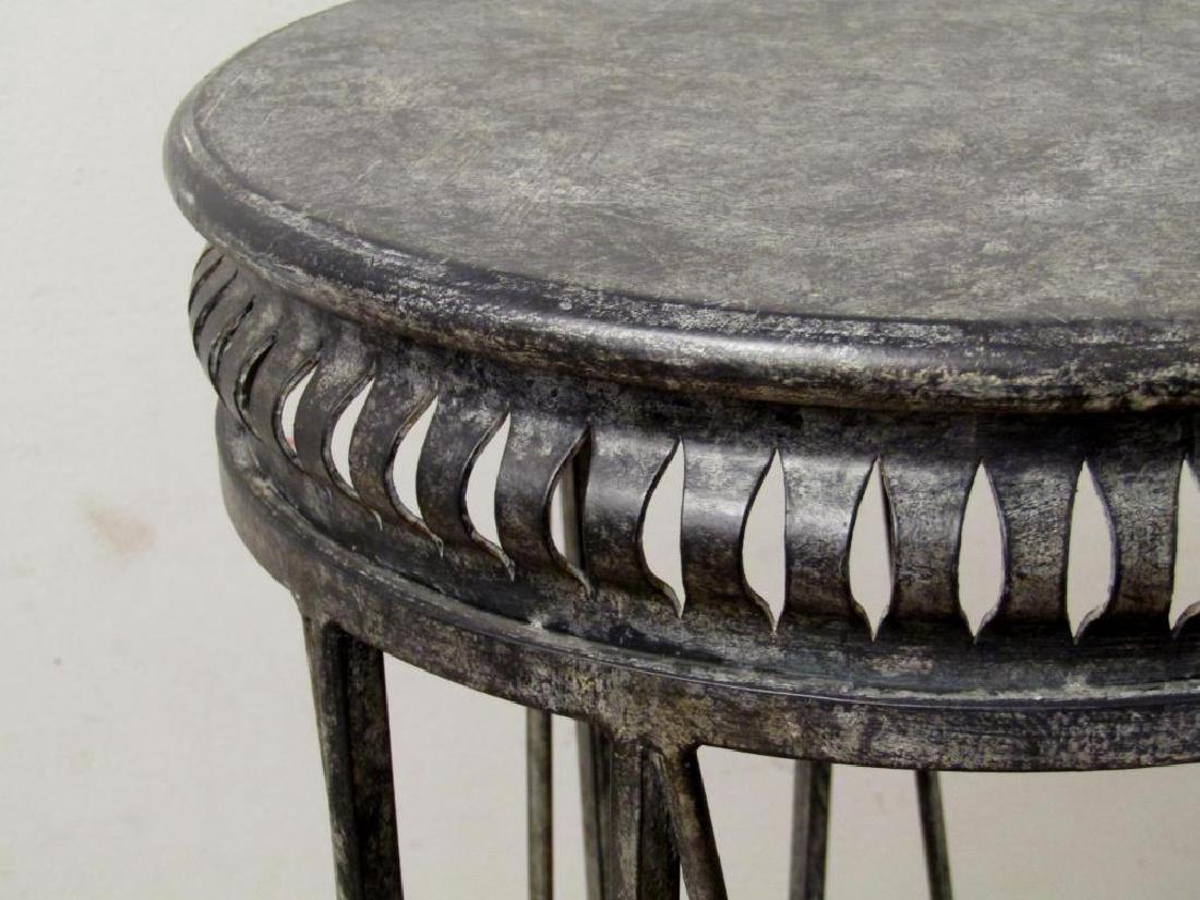 Regency Style Metal Pedestal - 3