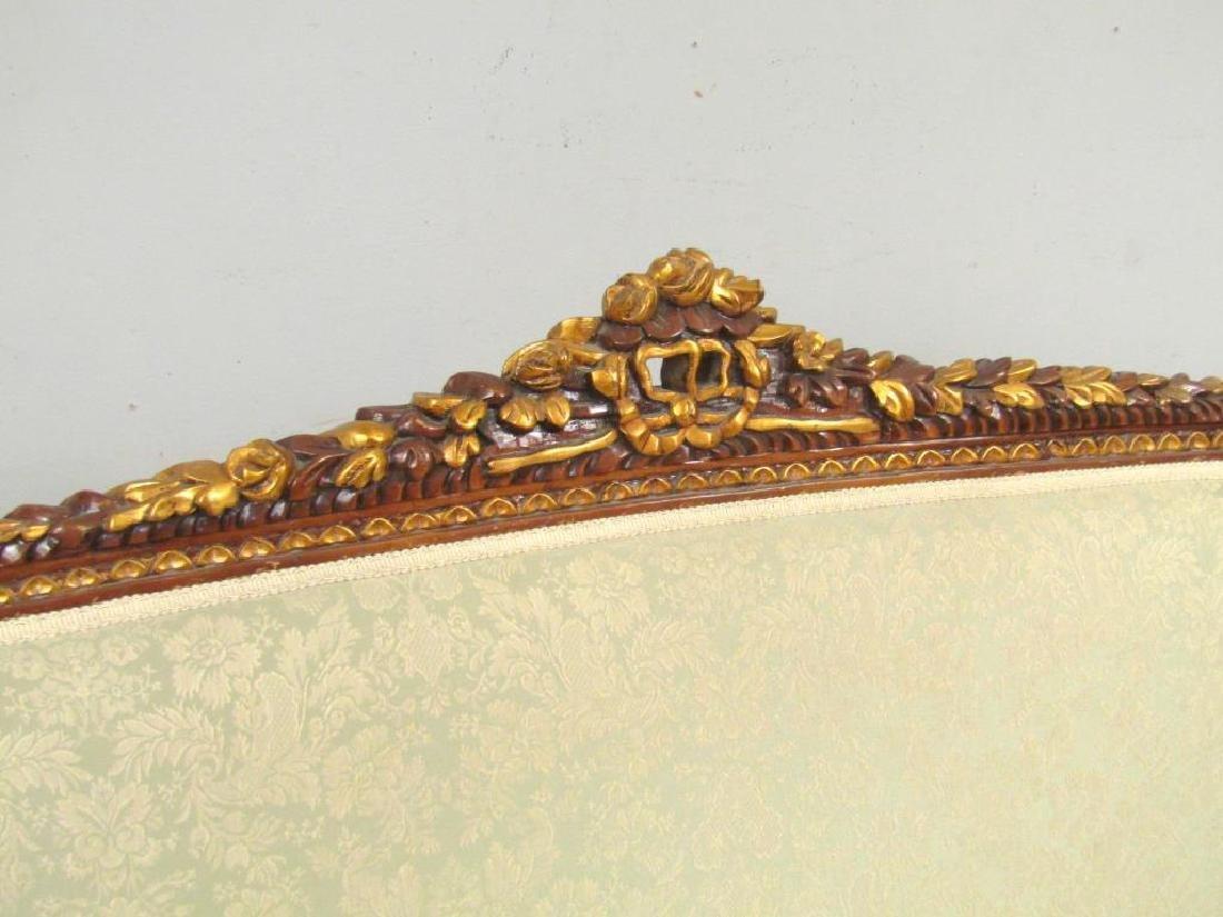 Louis XVI Style Open Arm Settee - 2