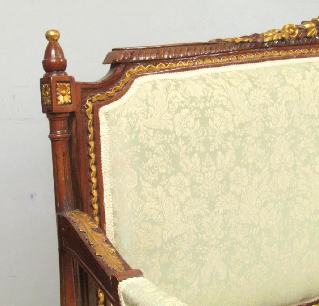 Louis XVI Style Open Arm Settee - 3