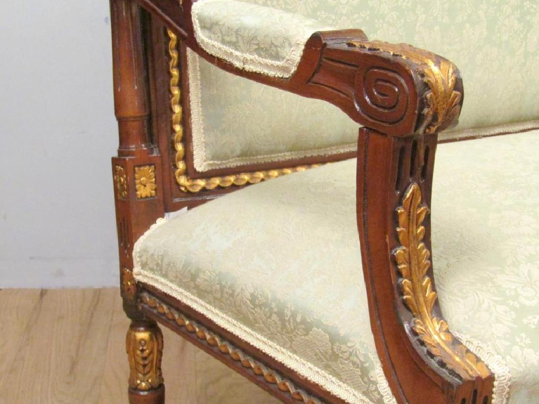 Louis XVI Style Open Arm Settee - 4