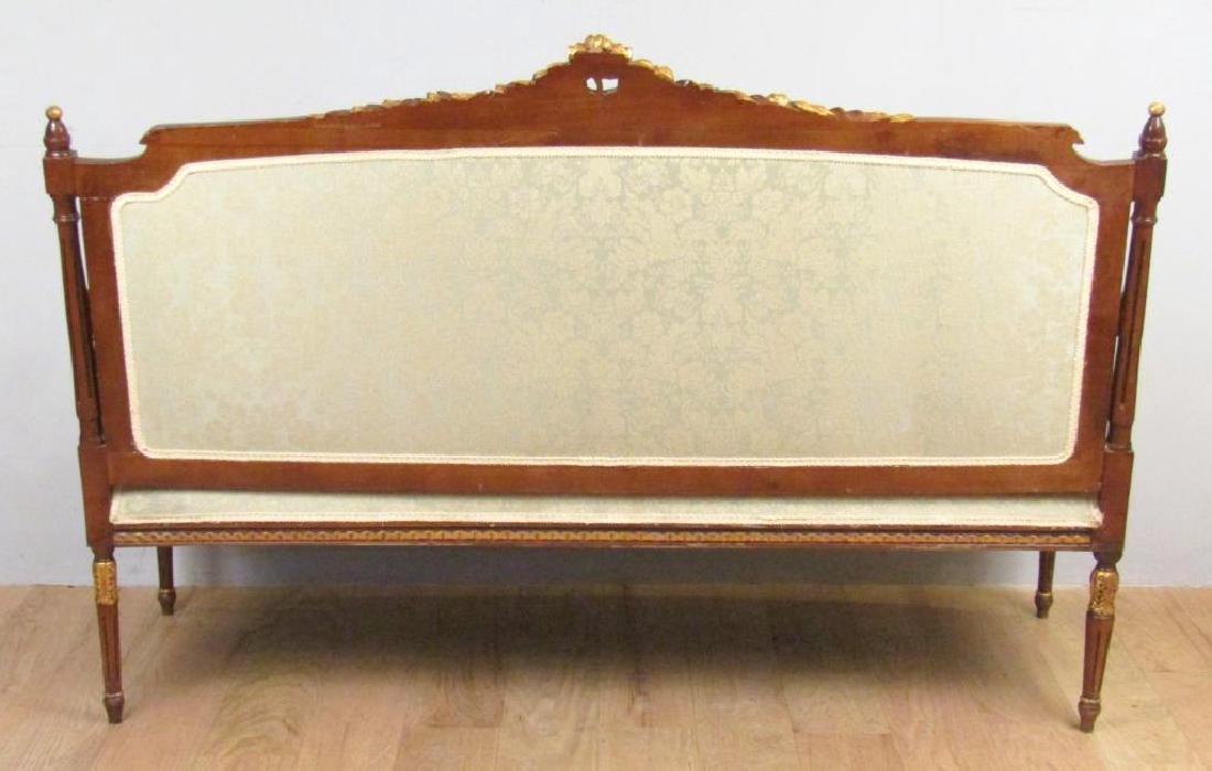 Louis XVI Style Open Arm Settee - 6