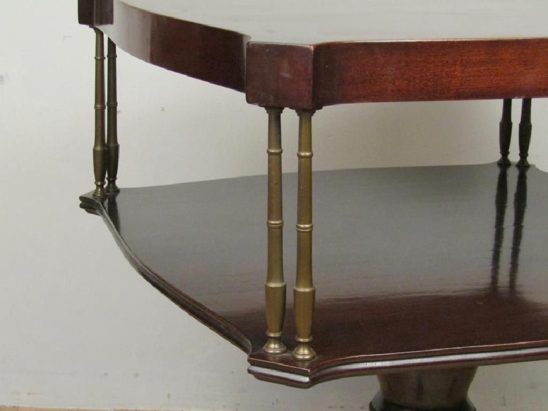 Pair Regency Style 2 Tier End Tables - 5