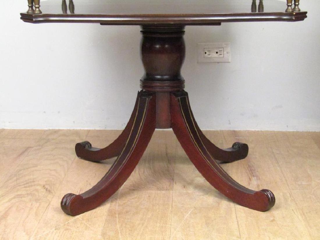 Pair Regency Style 2 Tier End Tables - 6