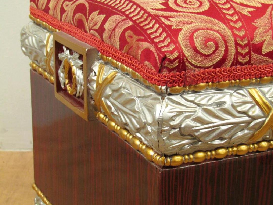 Pair Hollywood Regency Square Footstools - 3