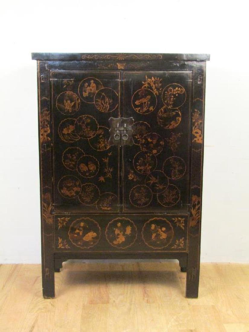 Small Chinese Lacquered Armoire