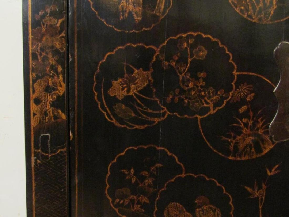 Small Chinese Lacquered Armoire - 5