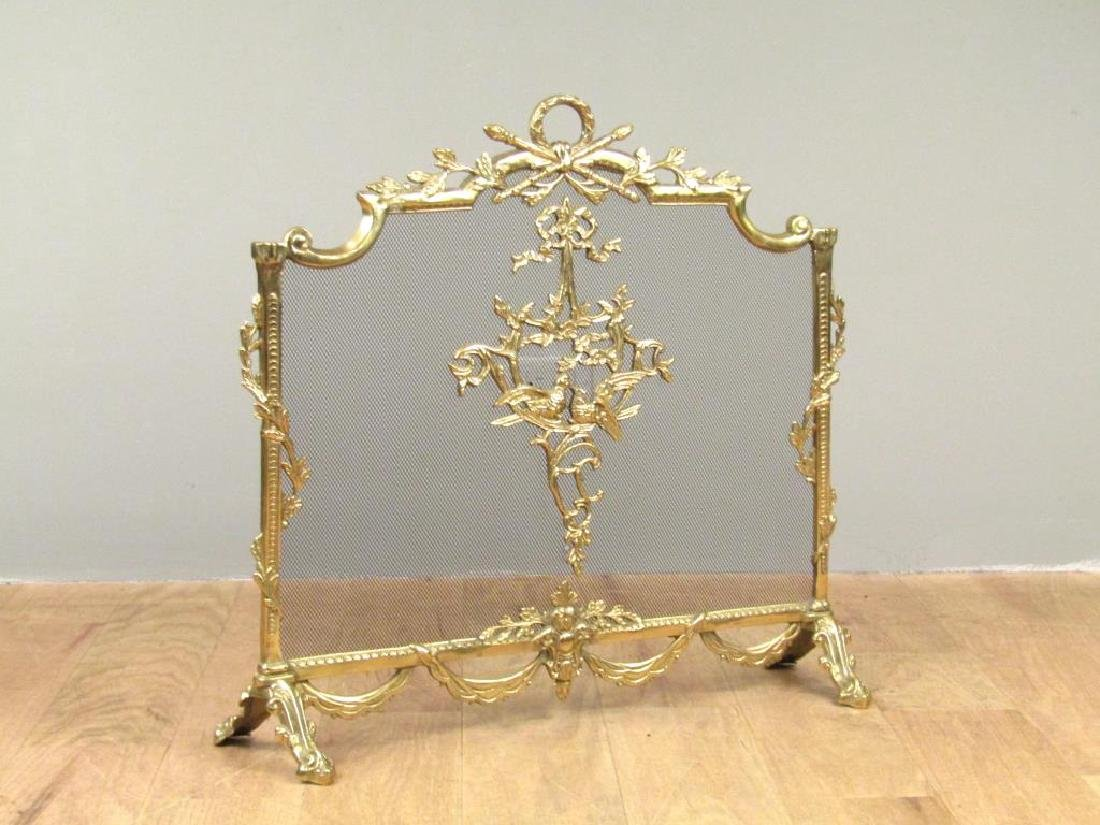 French Style Gilt Metal Fire Screen