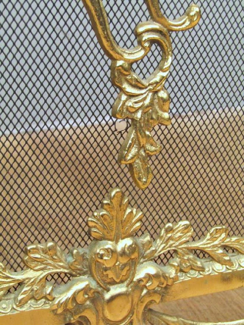 French Style Gilt Metal Fire Screen - 4